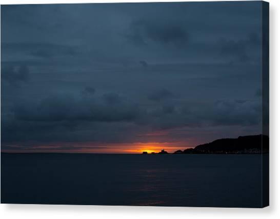 Dawn Over Swansea Bay Canvas Print