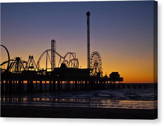 Dawn Over The Pier Canvas Print