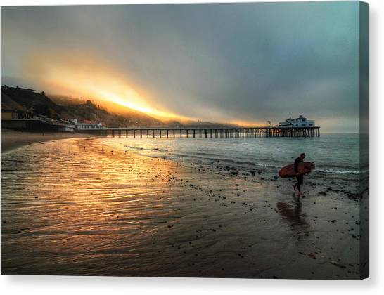 Dawn Session Over Canvas Print