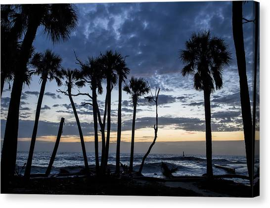 Dawn Silhouettes 01 Canvas Print