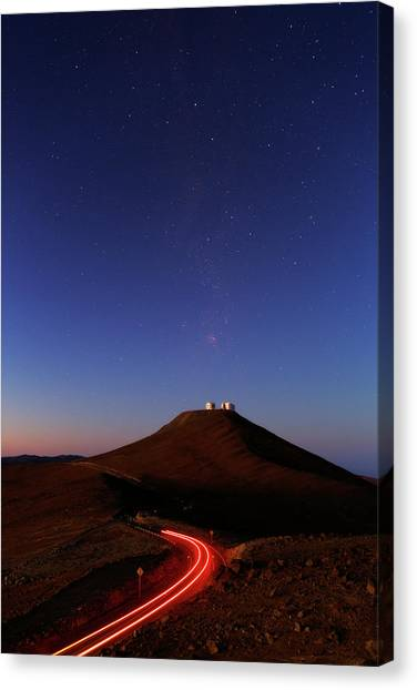 Atacama Desert Canvas Print - Dawn Sky Over Paranal Observatory by Babak Tafreshi