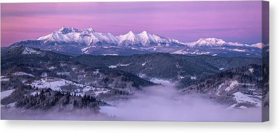 Mountain Ranges Canvas Print - Dawn - Tatra Mountains by Krzysztof Mierzejewski