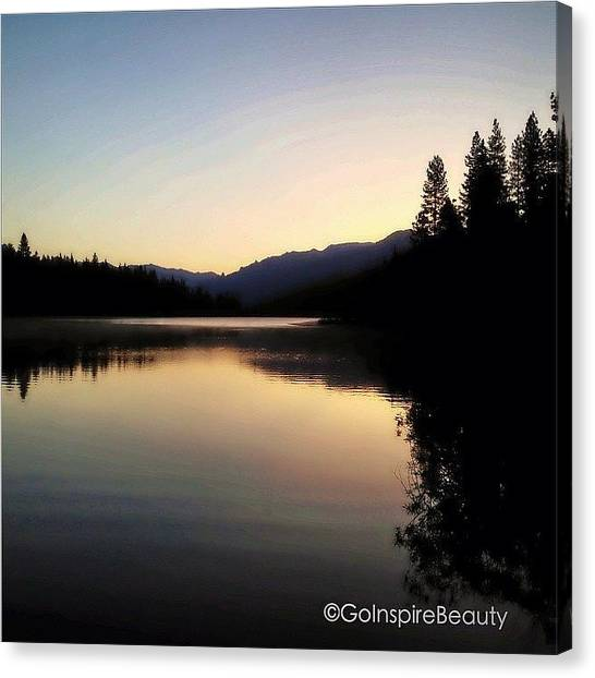 Lake Sunrises Canvas Print - Dawn's Early Light by Go Inspire Beauty