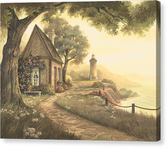 Lighthouse Canvas Print - Dawn's Early Light by Michael Humphries