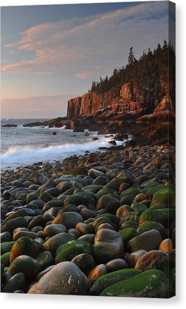 Ocean Sunrises Canvas Print - Dawn's Early Light by Stephen  Vecchiotti
