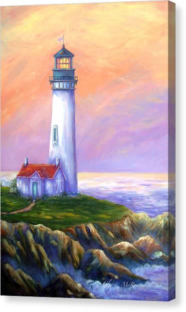Dawn's Early Light Yaquina Head Lighthouse Canvas Print