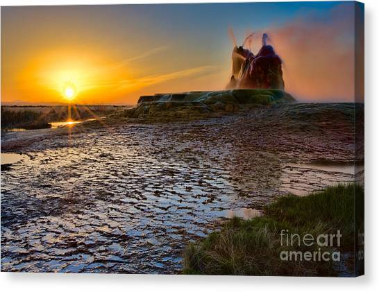 Black Rock Desert Canvas Print - Dawn's Radiance by Don Hall