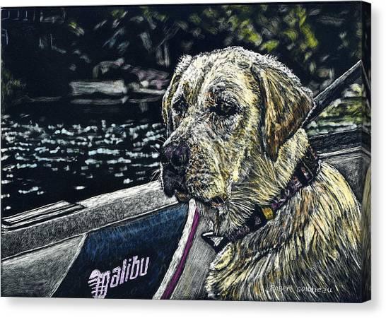 Dawson At The Lake Canvas Print by Robert Goudreau