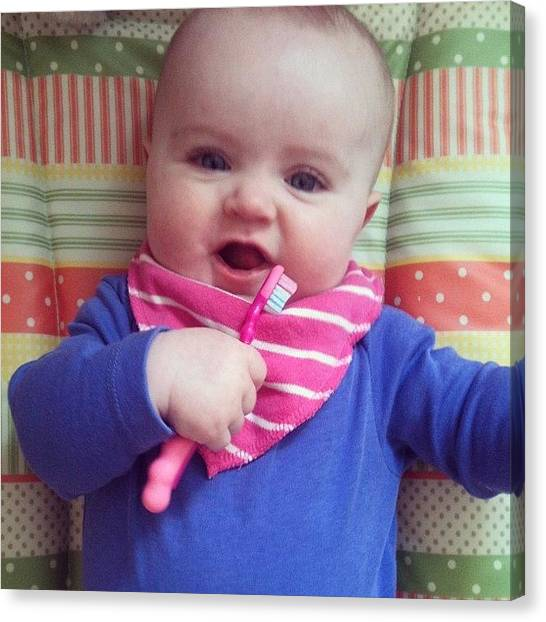 Toothbrush Canvas Print - Day 129 - All Toothbrush And No Teeth! by Pearl Rose Fogarty