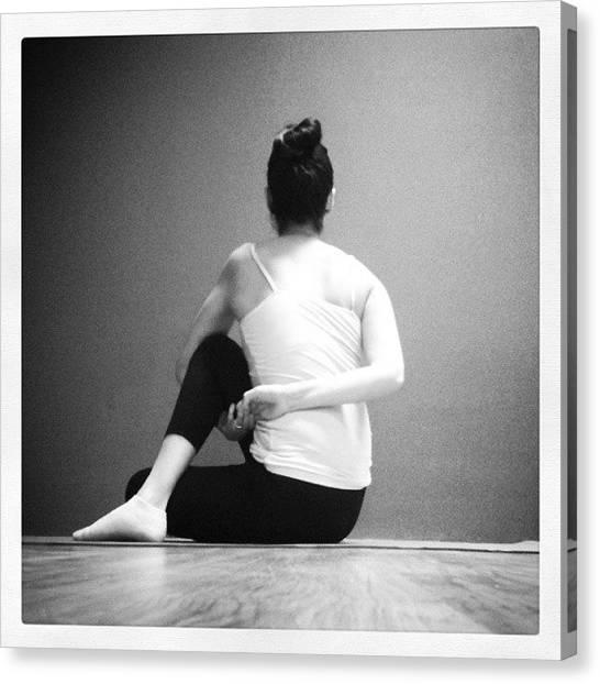 Yogi Canvas Print - Day 15 #octoberyogachallenge @kinoyoga by Stephanie  Ochoa