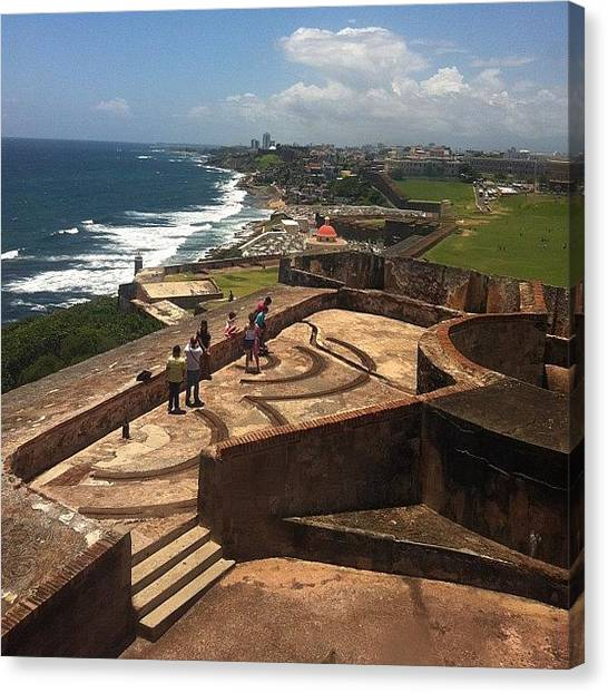 Spam Canvas Print - Day 22: Landscape #puertorico #elmorro by Zoe Sutter