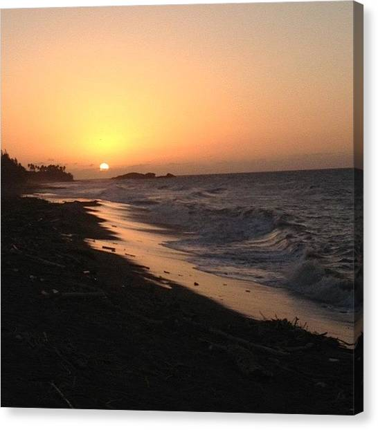 Spam Canvas Print - Day 8: Sunset <3 #like #love #likes by Zoe Sutter
