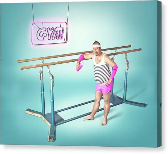 Gym Canvas Print - Day At The Gym by Petri Damst?n