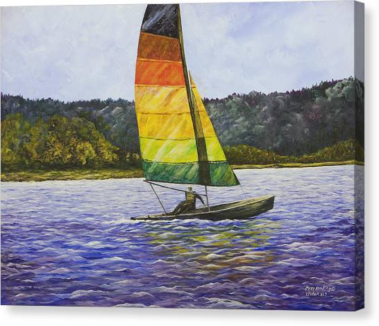 Day At The Lake Canvas Print