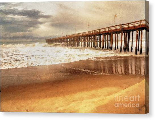 Day At The Pier Large Canvas Art, Canvas Print, Large Art, Large Wall Decor, Home Decor, Photograph Canvas Print