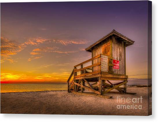 Lifeguard Canvas Print - Day Before Spring Break by Marvin Spates