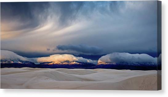 Dunes Canvas Print - Day Break At White Sand by John Fan