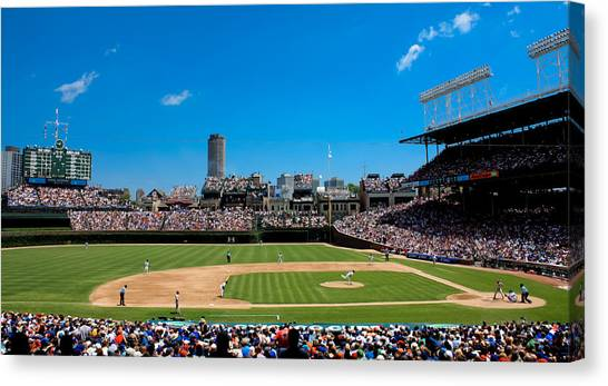 Wrigley Field Canvas Print - Day Game At Wrigley Field by Anthony Doudt