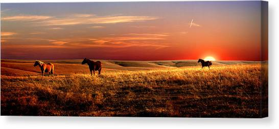 Prairie Sunsets Canvas Print - Day Is Done by Rod Seel
