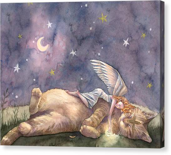 Celestial Canvas Print - Day Of Joy by Sara Burrier