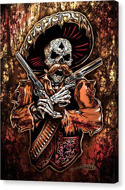 Day Of The Dead Gunslinger Canvas Print