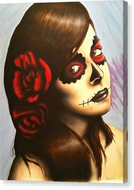 Day Of The Dead Canvas Print by Jeremy Evans