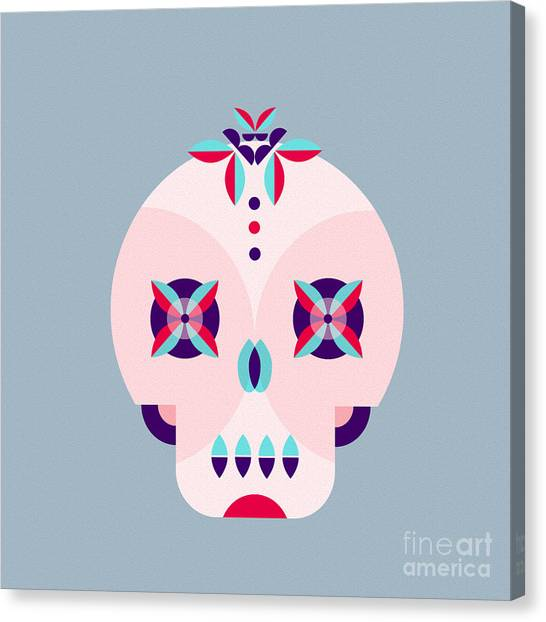 Mexican Canvas Print - Day Of The Dead Poster by Derenskaya