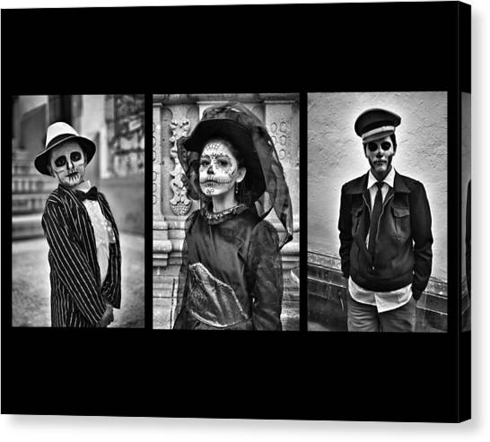 Day Of The Dead Triptych Canvas Print by David Brommer