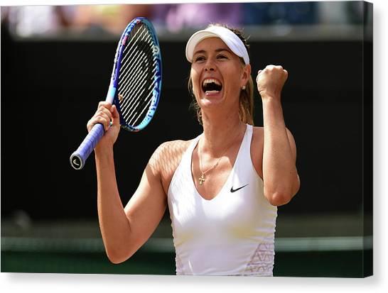 Tennis Pros Canvas Print - Day Seven The Championships - Wimbledon by Shaun Botterill
