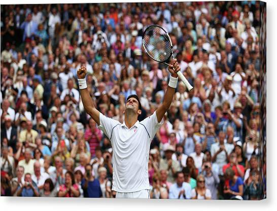 Tennis Pros Canvas Print - Day Thirteen The Championships - by Clive Brunskill