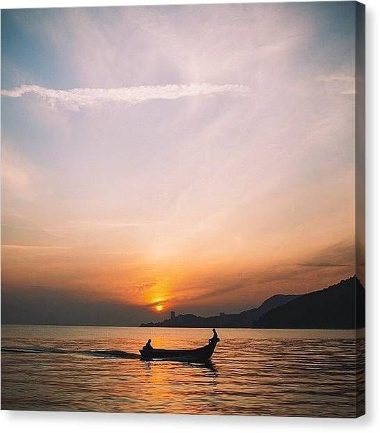 Fishing Boats Canvas Print - Daybreak , Teluk Bahang. #penang #travel by David  Hagerman