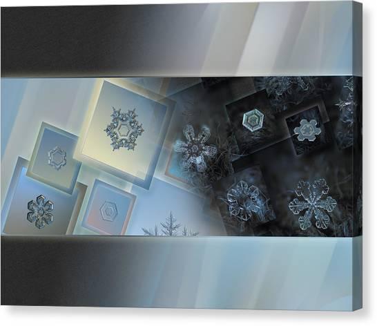 Snowflake Collage - Daybreak Canvas Print