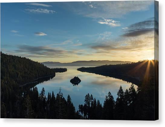 Daybreak At Emerald Bay Canvas Print