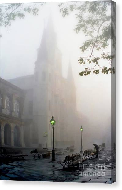 Daybreak In Jackson Square Canvas Print