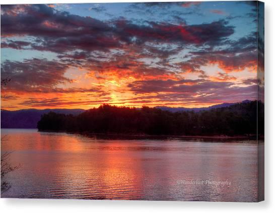 Daybreak Lake Ocoee Canvas Print by Paul Herrmann