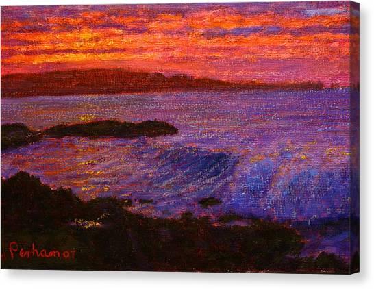 Daybreak Porpoise Bay Canvas Print by Terry Perham