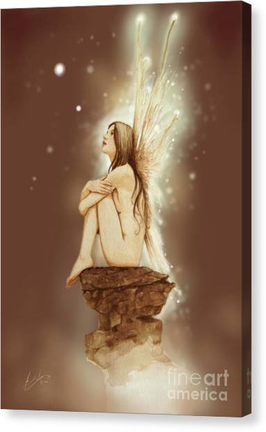 Canvas Print - Daydreaming Faerie by John Silver