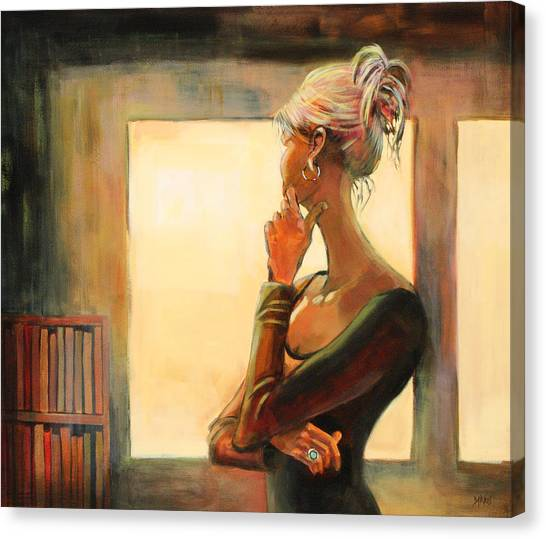 Woman Canvas Print - Daydreaming by Sue  Darius