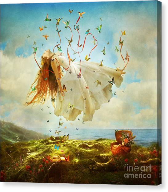 Floating Girl Canvas Print - Daydreams by Aimee Stewart