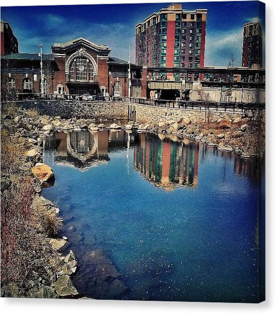 Saws Canvas Print - #daylighting Of The #saw #mill #river by Antonio DeFeo
