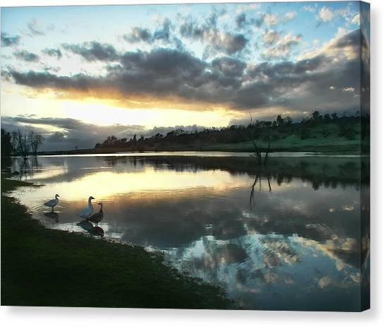 Days End At Horseshoe Lake  Canvas Print
