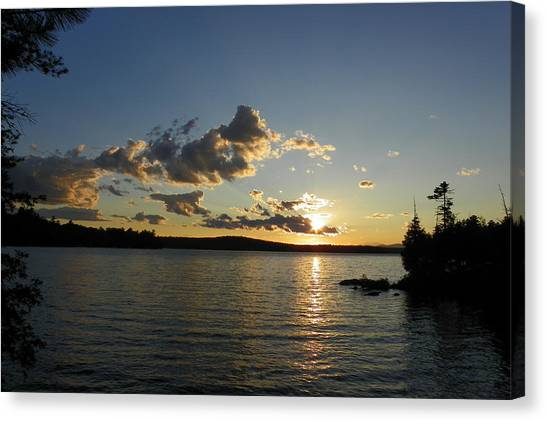 Day's End At Schoodic Lake Canvas Print