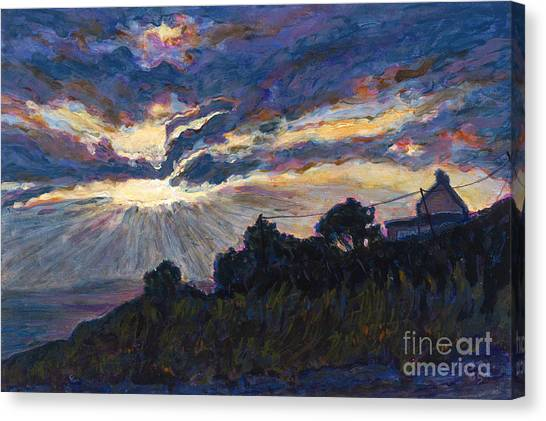 Day's End - Dingle Bay Canvas Print by Betsee  Talavera