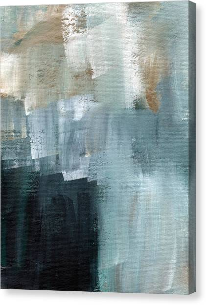Santa Monica Canvas Print - Days Like This - Abstract Painting by Linda Woods
