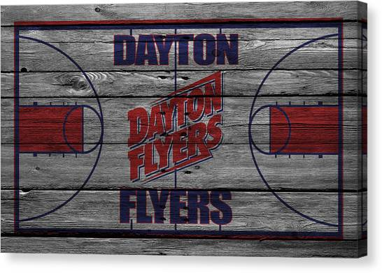 Flyer Canvas Print - Dayton Flyers by Joe Hamilton