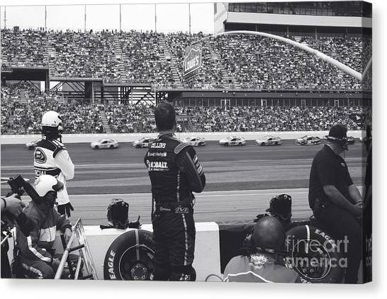 Daytona 500 Canvas Print - Daytona 500 Pit Crew by Shanna Vincent