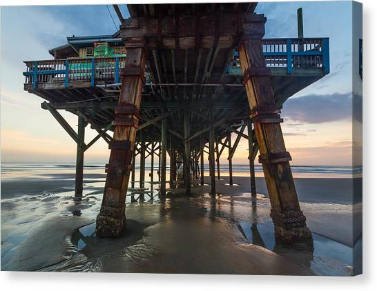 Daytona Beach Shores Pier Canvas Print