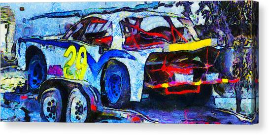 Daytona 500 Canvas Print - Daytona Bound Number 29 by Barbara Snyder