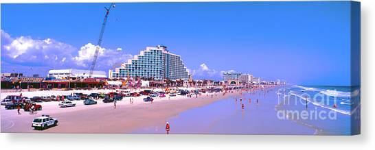 Daytona Main Street Pier And Beach  Canvas Print