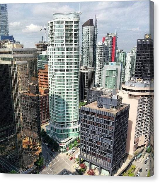 Vancouver Skyline Canvas Print - Dayview From The Shawtower by Ashley Ross